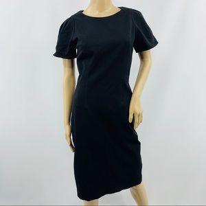 J. Crew Black Short Sleeve Scoop Neck Dress